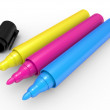 Cmyk marker - Foto Stock
