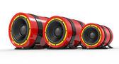 3d illustration of red audio speaker — Stock Photo