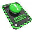 Danger, green help button — Stock Photo