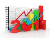 Business diagram 2011 — Stock Photo