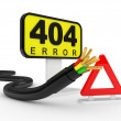 Royalty-Free Stock Photo: 404 error sign