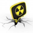 Stock Photo: Radiation Sign