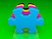 Cmyk color puzzle — Stock Photo