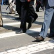 Crowd crossing - Stock Photo