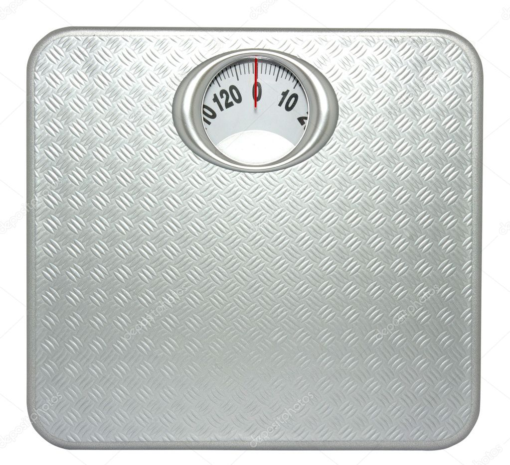Weight control by floor scale — Stock Photo #4163221