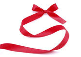 Red satin ribbon — Stock Photo