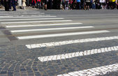 Crowd crossing — Stock Photo