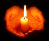 Burning candle — Foto de Stock