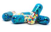 Pills on white — Stock Photo