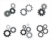 Gear set — Stock Vector