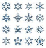 Sněhové vločky — Stock vektor