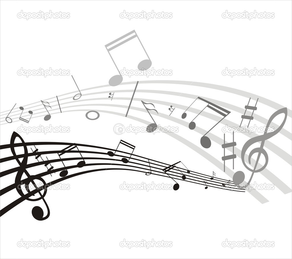 Music notes on staves — Stock Vector #5221089