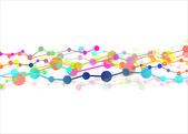 Molecular chains — Stock Vector