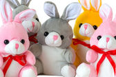 Toy rabbits — Stock Photo