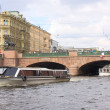 Stock Photo: Anichkov bridge and Fontankriver