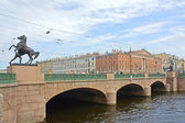 Anichkov bridge — Stock Photo