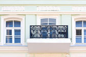 Balcony and windows — Stockfoto