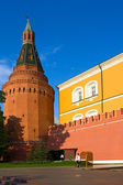 Wall and tower of Moscow Kremlin — Stock Photo