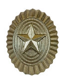 Insignia on russian officer cap — Foto de Stock