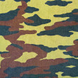 Camouflage pattern with rough realistic fabric texture — Stock Photo