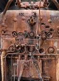 Old locomotive boiler — Stock Photo