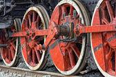 старый паровой локомотив колеса — Стоковое фото