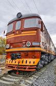 старый дизельный локомотив — Стоковое фото