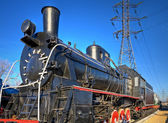 Ancient steam locomotive — Stock Photo