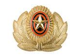 Insignia on russian officer cap — Stok fotoğraf
