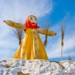 End of winter. Shrovetide. Big doll for burning — Stock Photo #4768715
