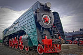 Ancient steam locomotive — Stock Photo
