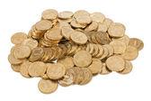 Monete isolati su sfondo bianco — Foto Stock