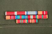 Premios militares sobre la capa — Foto de Stock