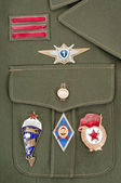 Russian military badges — Stock Photo