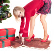 Happy woman with Christmas presents — Stock Photo #4088736