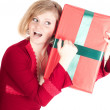 Happy woman with Christmas presents — Stock Photo #4088835