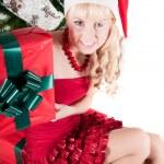 mulher feliz com presentes de Natal — Foto Stock #4089147