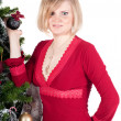 Happy woman with Christmas presents — Stockfoto #4136397