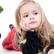 Baby girl dressed up for Christams — Stock Photo
