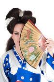 Portrét gejša — Stock fotografie