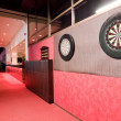 Darts boards in club — Stock Photo