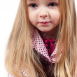 Portrait of little cute girl with long hair — Stock Photo
