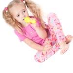 Little cute girl in studio — Stock Photo #5163658