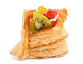 Torta con gelatina e frutta — Foto Stock