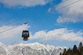 Cabin of ski lift. Ski resort Schladming . Austria — Stock Photo