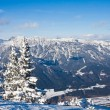 Mountains under snow. Ski resort  Schladming . Austria — Stock Photo