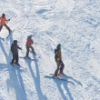 Stock Photo: Skiers is skiing at ski resort