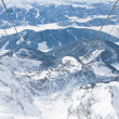 Stock Photo: View from observation deck. Dachstein glacier. Austria