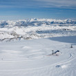 The view from the observation deck on the Dachstein glacier. Aus — Stock Photo