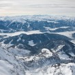 The view from the observation deck. Dachstein glacier. Austria — Stock Photo